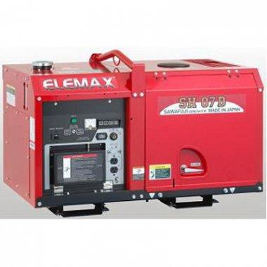 Máy phát điện  Elemax SH07D ( Chạy dầu, Chống ồn) 5,5KVA, Máy phát điện Elemax SH07D