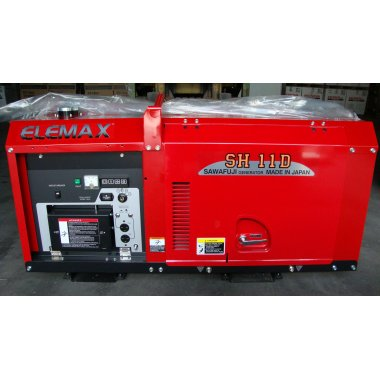 Máy phát điện Elemax SH11D ( Chạy dầu, Chống ồn) 8KVA, Máy phát điện Elemax SH11D