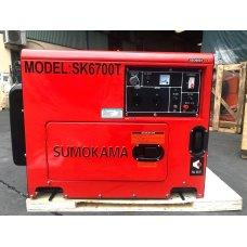 Máy phát điện chạy dầu Sumokama SK6700T (5KVA) - Có cách âm