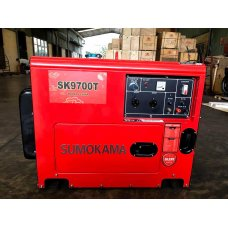 Máy phát điện chạy dầu Sumokama SK9700T (6KVA) - Có  cách âm